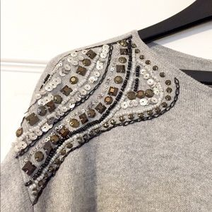 Michael Kors beaded shoulder tunic